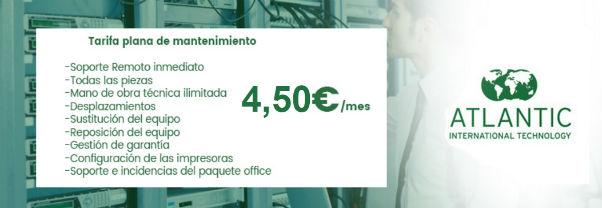 Mantenimiento de equipos desde 4,50€ / mes